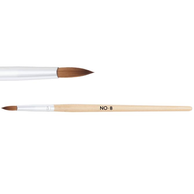 Pennello in legno per acrilico n. 8