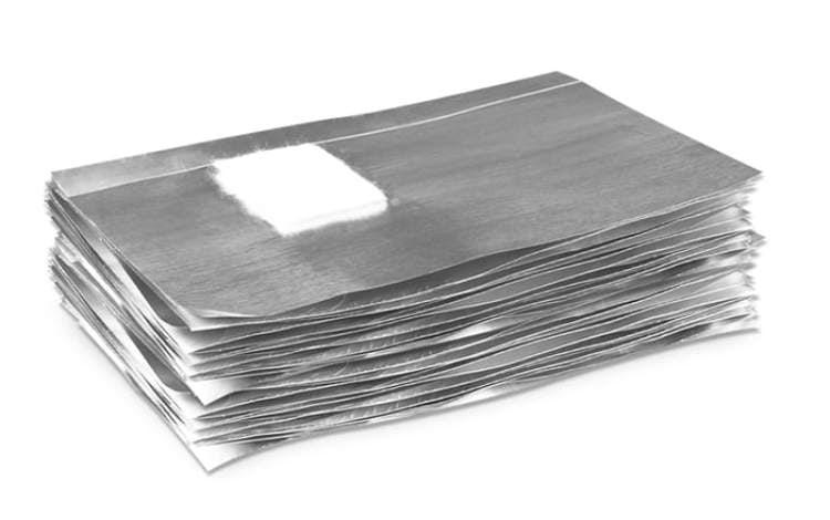Foil nail wrap - 50 pezzi